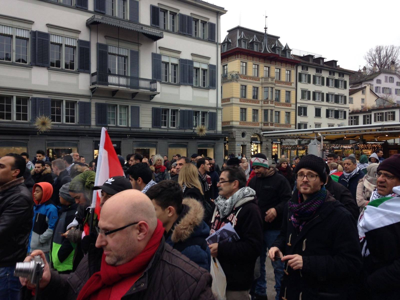 Jerusalem Demo Zurich 23.12.2017